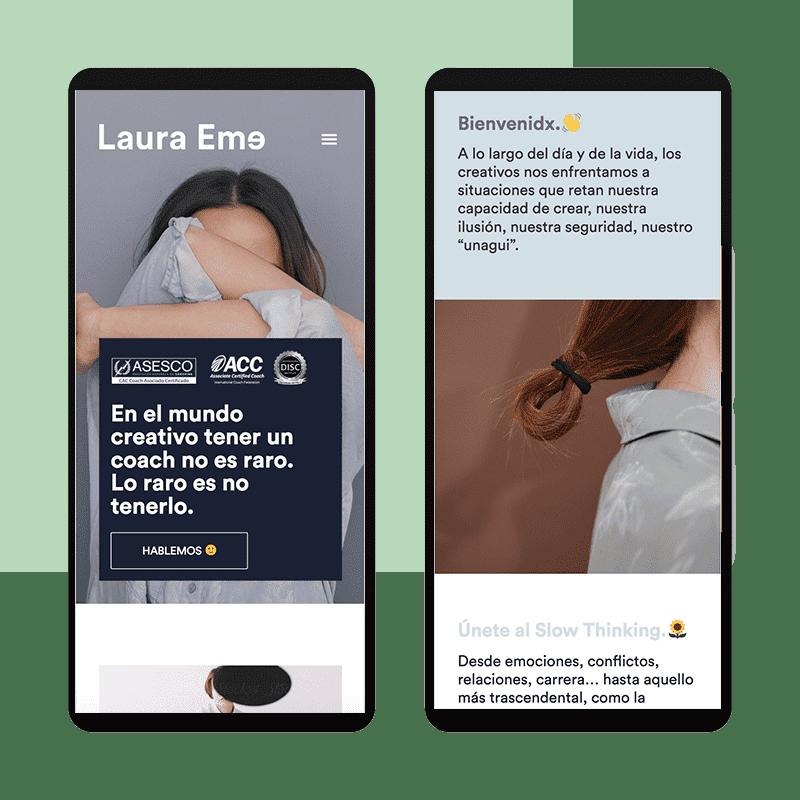 Página web de Laura Eme responsive mobile